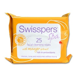 Swisspers Coloured Facial Cleansing Wipes With Mango Extract 25pk