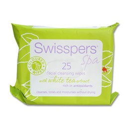 Swisspers Coloured Facial Cleansing Wipes With White Tea Extract 25pk