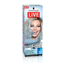 Schwarzkopf Live Colour Temporary Pastel Spray Icy Blue 125ml