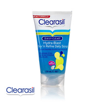 Clearasil Daily Clear Hydra-Blast Clear 'N Refine Daily Scrub Aloe Vera & Cucumber Extracts And Vitamin B3 150ml