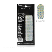 Maybelline Color Show Fashion Prints Mirror Effect Nail Stickers 50 Silver Sparks