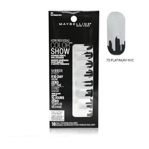 Maybelline Color Show Fashion Prints Mirror Effect Nail Stickers 70 Platinum NYC