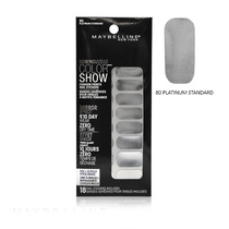 Maybelline Color Show Fashion Prints Mirror Effect Nail Stickers 80 Platinum Standard