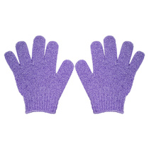 Spa Savvy Exfoliating Bath Gloves One Pair Assorted Color