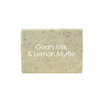 Natural Organic Soaps Goats Milk and Lemon Myrtle 100g