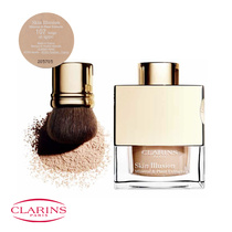 Clarins Skin Illusion Mineral & Plant Extracts Loose Powder Foundation with Brush 107 Beige 13g
