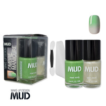 Mud Ombre Manicure Kit Meet Minty + Satin Cloud