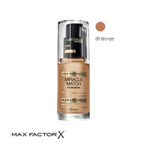 Max Factor Miracle Match Foundation 80 Bronze 30ml