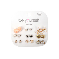 Be Yourself Earring Assorted Girl Design 9 Pairs