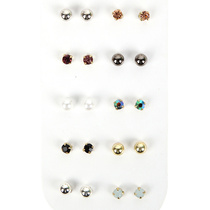 Be Yourself Earring Studs 10pk Assorted Colours