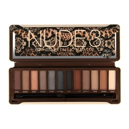 BYS Nude3 Eyeshadow Palette 12 Colours Metallic & Matte 12g