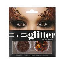 BYS Glitter Face & Body Kit Bronze
