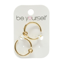 Be Yourself Earring Interlocking Circles Gold
