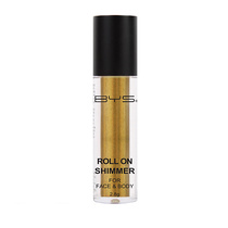 BYS Roll On Shimmer For Face And Body Golden Yellow 2.8g