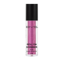 BYS Roll On Shimmer For Face And Body Flirty Pink 2.8g