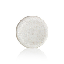 Silicone Sponge Round Shape Clear With Rose Gold Glitter