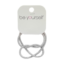 Be Yourself Bracelet Knot - Metallic Silver