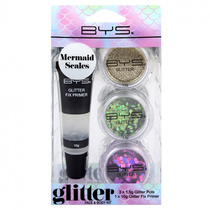 BYS Glitter Face & Body Kit Mermaid Scales