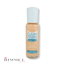 Rimmel Clean Finish Matte Foundation 120 Ivory 30ml