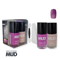 Mud Ombre Manicure Kit Radiant Orchid + Poppet