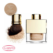 Clarins Skin Illusion Mineral & Plant Extracts Loose Powder Foundation with Brush 109 Wheat 13g