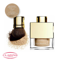 Clarins Skin Illusion Mineral & Plant Extracts Loose Powder Foundation with Brush 110 Honey 13g