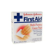 Johnson & Johnson First Aid Multi Purpose Gauze Pads 8pk