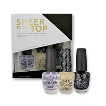 OPI Sheer To the Top Nail Polish Trio Top Coats & Glitter