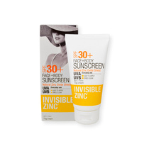 Invisible Zinc Face & Body Sunscreen Cream SPF 30+ 75g