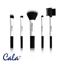 Cala Urban Studio Essential Travel Brush Set 5pcs - Black & White