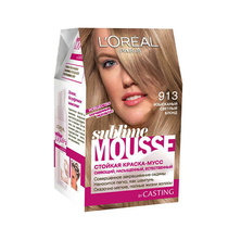 L'Oreal Sublime Mousse Permanent Hair Colour 913 Light Beige Blonde