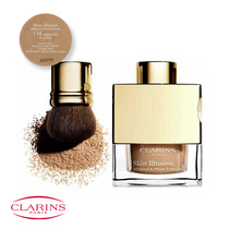 Clarins Skin Illusion Mineral & Plant Extracts Loose Powder Foundation with Brush 114 Cappuccino 13g