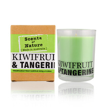 Scents Of Nature Kiwifruit & Tangerine Vegetable Wax Candle 240g