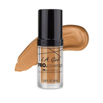 LA Girl HD Pro Coverage Long Wear Illuminating Foundation 645 Nude Beige 28ml