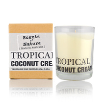 Scents Of Nature Tropical Coconut Cream Vegetable Wax Candle 240g