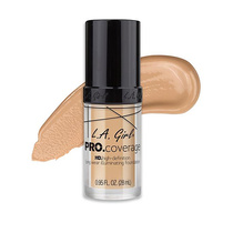 LA Girl HD Pro Coverage Long Wear Illuminating Foundation 644 Natural 28ml