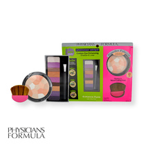 Physicians Formula 3pcs Cosmetic Kit - Eye Shadow & Liner, Multi Colored Pressed Powder & Face Brush Endless Possibilities
