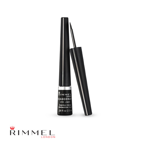 Rimmel Exaggerate Eye Liner 001 100% Black 2.5ml