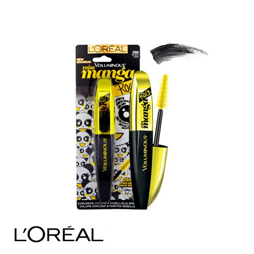 L'Oreal Voluminous Miss Manga Rock Mascara 388 Black 8.1ml