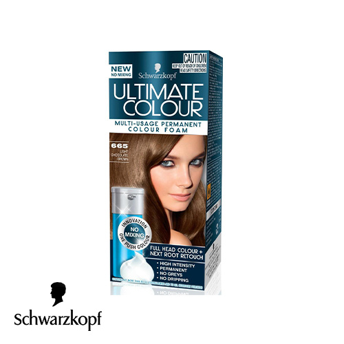 Schwarzkopf Ultimate Colour Multi Usage Permanent Hair Colour Foam 665 Light Chocolate Brown