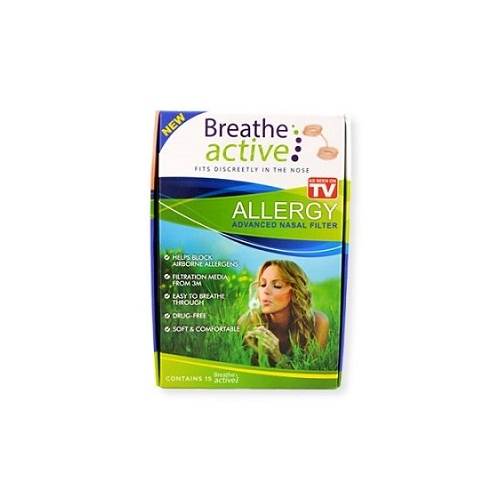 Breathe Active Allergy Advanced Nasal Filter 15pk