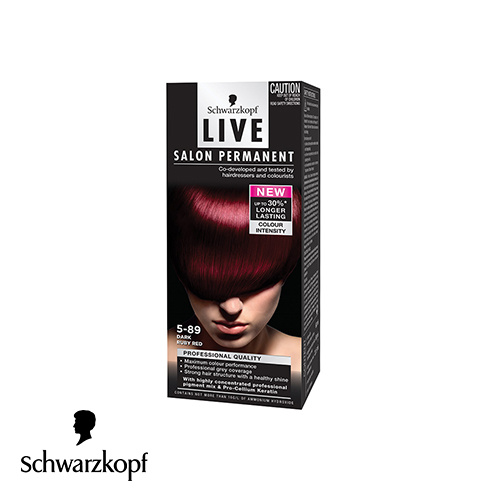 Schwarzkopf Live Salon Permanent Hair Colour 5.89 Dark Ruby Red