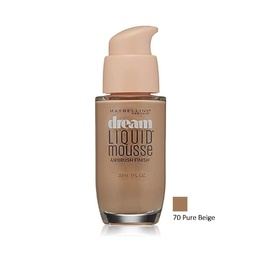 Maybelline Dream Liquid Mousse Airbrush Finish Foundation 70 Pure Beige 30ml