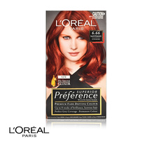L'Oreal Superior Preference Permanent Hair Colour 6.66 Santiago Intense Red