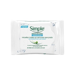 Simple Micellar Makeup Remover Eye Pads 30pads