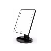 Paris Glam 16 LED Touch Screen Mirror Black