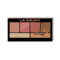 LA Colors So Cheeky Blush & Highlight Palette Peaches and Cream 22g