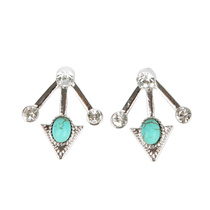 Be Yourself Earring Cuff/Under Ear Silver/Turquoise
