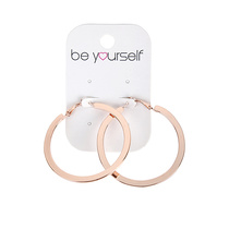 Be Yourself Earring Hoop Large Flat Edge Rose Gold