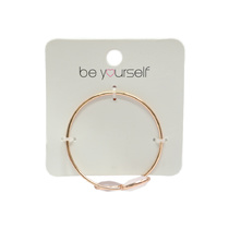 Be Yourself Bracelet Cuff With Stones - Pink & Rose Gold